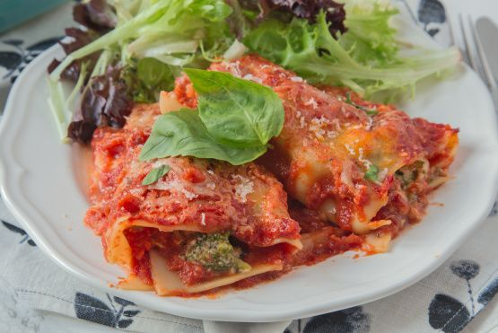 If you want a change from the traditional lasagna, give these vegetable roll-ups a try. It is a recipe from the Bagel Factory in Myrtle Beach, South Carolina.