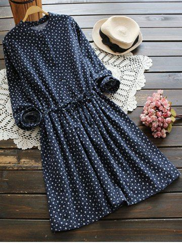 GET $50 NOW | Join RoseGal: Get YOUR $50 NOW!http://www.rosegal.com/print-dresses/long-sleeve-tiny-floral-shirt-861850.html?seid=7857200rg861850