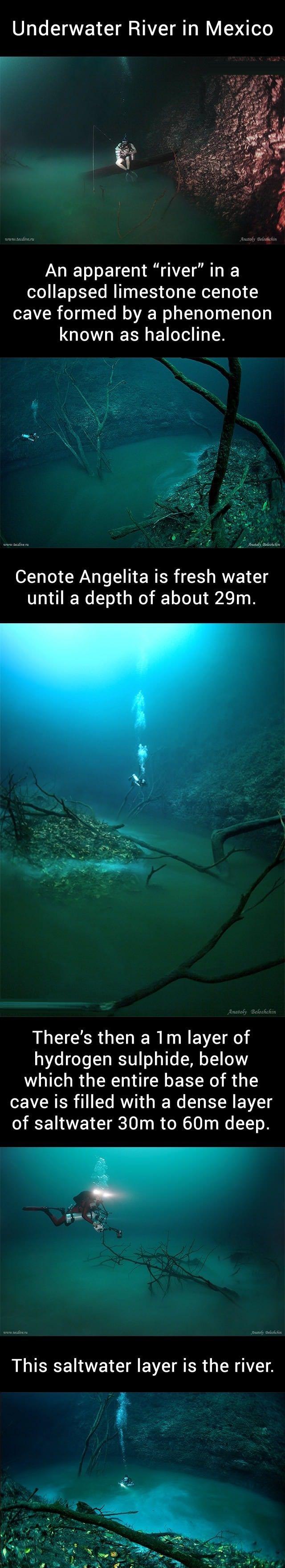 Underwater river, Mexico