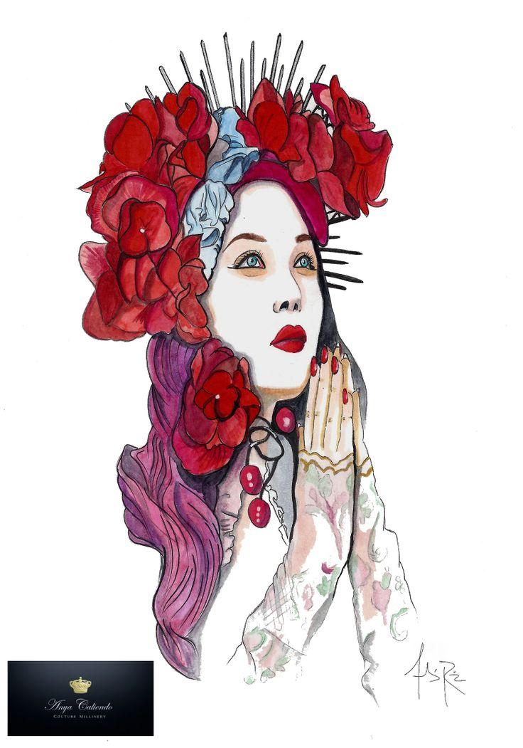 Diseño tocado Anya Caliendo Couture Millenery