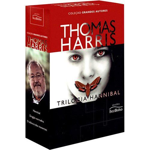 Livro - Box Thomas Harris: Trilogia Hannibal - Hannibal, Dragão Vermelho e O Silêncio dos Inocentes - Coleção Grandes Autores - Edição Econômica