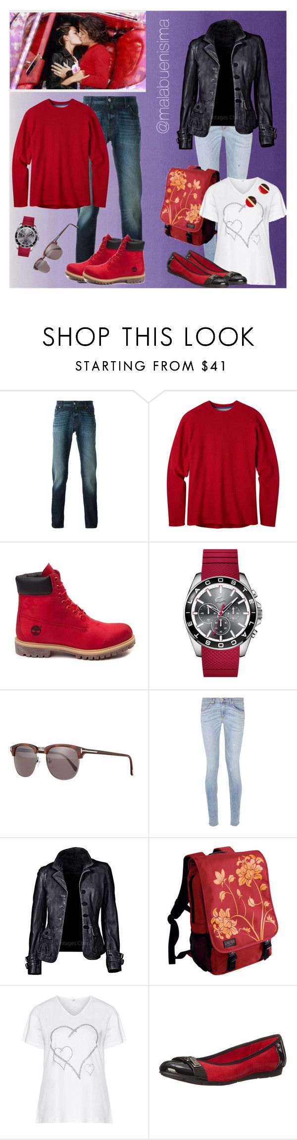 """""""Couple Sets One"""" by malabuenisima ❤ liked on Polyvore featuring Jacob Cohёn, Mountain Khakis, Timberland, Lacoste, Tom Ford, rag & bone, Laurex, Zhenzi, Anne Klein and Michael Kors"""
