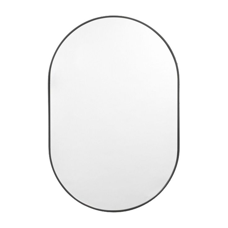Browse Contemporary Mirrors Online 50 x75 cm Middle of Nowhere - Bjorn Oval Mirror (Black)