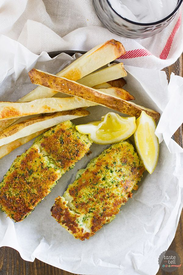 Eating lighter doesn't mean you have to give up your favorites, and this Lemon Herb Fish with Crispy Oven Fries proves that! A healthier take on fish and chips, this flavorful fish recipe will leave you satisfied and feeling good.: