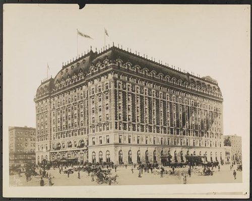 Built in 1904, the Hotel Astor - Broadway- 44th and 45th Streets.  Architects Clinton & Russell built the Beaux-Arts masterpiece.  The hotel was demolished in 1967. Today, MTV Studios building occupies the site.