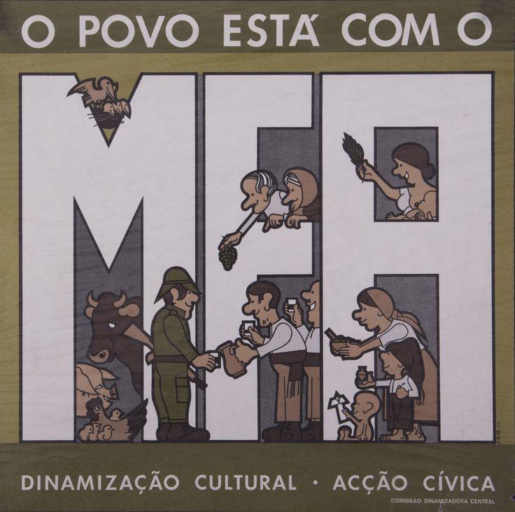 O Povo está com o MFA, João Abel Manta para o MFA