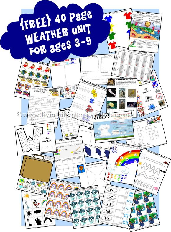 Weather: Free 40, Teaching Weather Preschool, Free Homeschool Printables, Weather Preschool Activities, Free Weather, Preschool 3, Weather Printables, Free Printables, Weather United