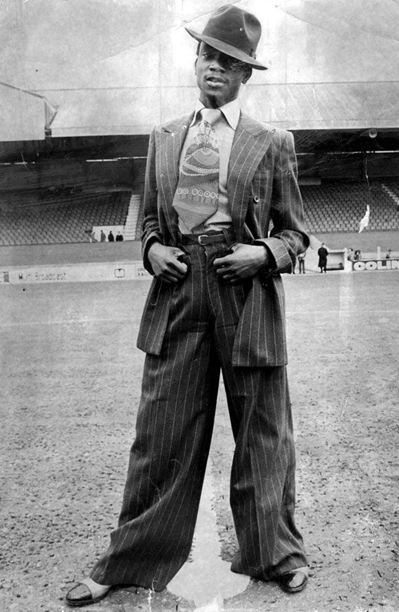 Laurie Cunningham aged 17, at Brisbane Road, home to Leyton Orient FC, 1973.//  In 1989, footballer Laurie Cunningham's life was cut short by a car crash on the outskirts of Madrid. He was 33 years old.