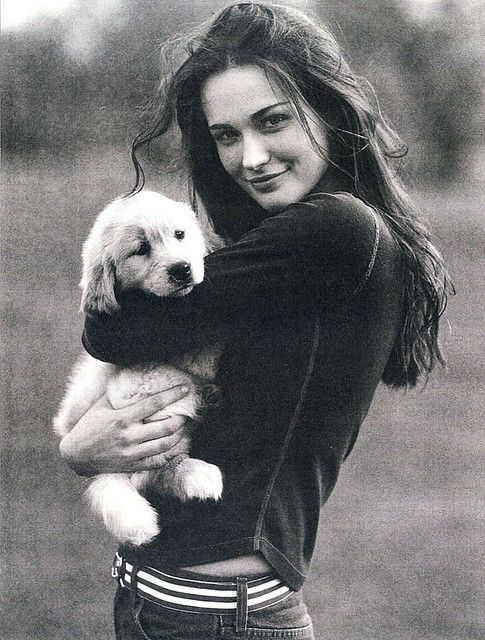 girls and puppies: two of my favorite things. (Ashley Garrison for Abercrombie & Fitch by Bruce Weber)