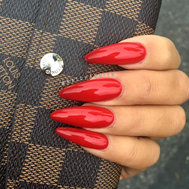 The 25+ best Long red nails ideas on Pinterest | Dark red ...