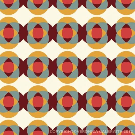 geometric : 'Good Vibrations' surface pattern design by Veronica Galbraith | Pitter Pattern