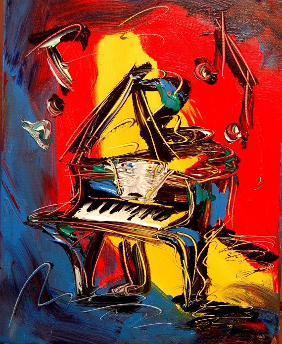 """Jazz Piano"" Painting for Sale https://www.etsy.com/listing/156457712/grand-piano-commission-for-sale-by-mark"