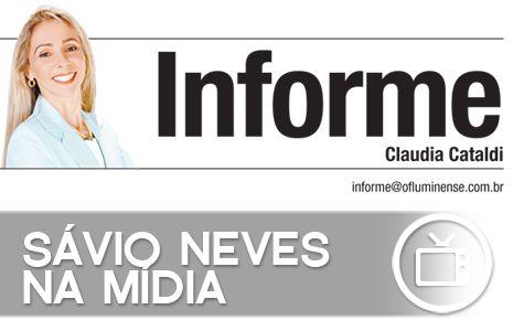"Sávio Neves na coluna ""Informe"" - Jornal O Fluminense | Por: Tamyris Santana"