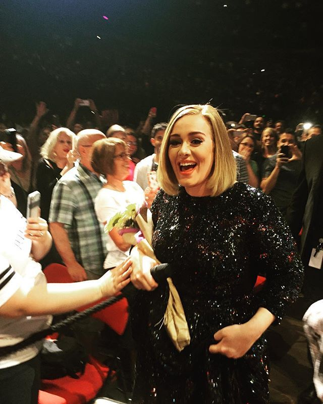 Adele performing at ''KeyArena', Seattle, WA (July, 25)
