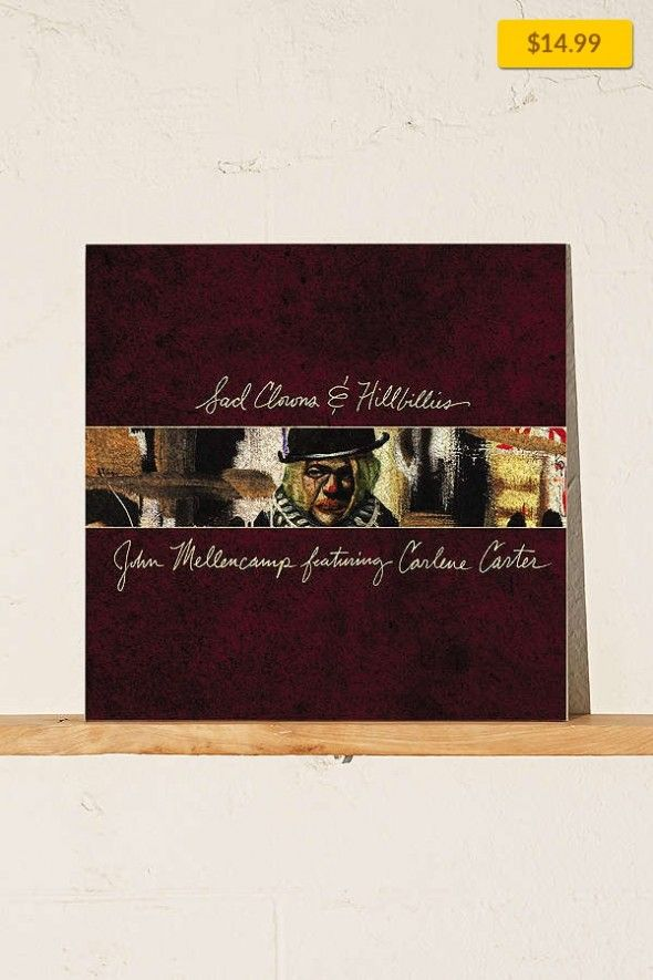 John Mellencamp - Sad Clowns & Hillbillies LP Music + Tech, Vinyl + Cassettes, All Vinyl   Now available on vinyl is Sad Clowns & Hillbillies, the 23rd studio album by John C. Mellencamp. Born out of his recent scoring work with Carlene Carter on productions such as Stephen King's Ghost Brothers of Darkland County and (then-wife) Meg Ryan's Ithaca, Sad Clowns & Hillbillies is a deeply personal col...