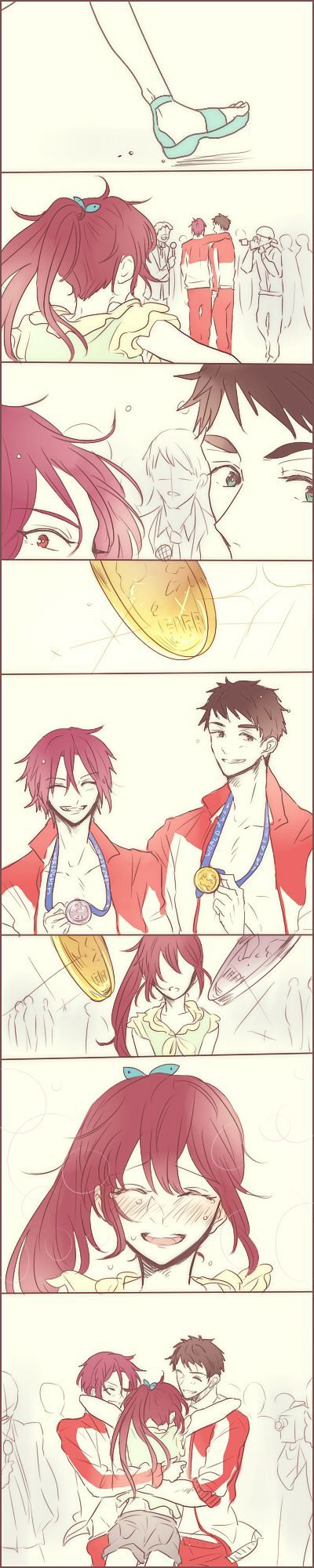 Rin x Gou x Sousuke <3 I love their  relationship so much and this is so touching <3 <3
