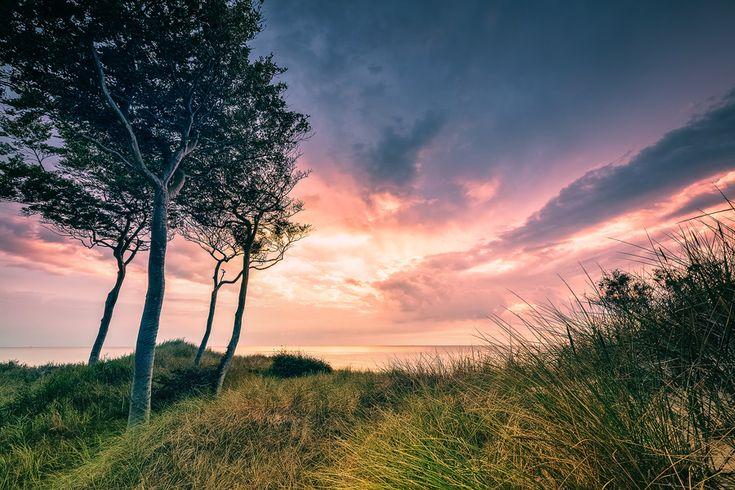 Götterfunken am Weststrand (Prerow / Darß),  Dämmerung, Fischland, Ostsee, Prerow, Sonnenuntergang, Weststrand, Wolken
