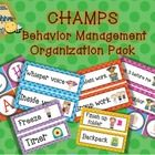 """This pack contains polka dot CHAMPS signs to hang up in your classroom.  I have given you the option for """"P"""" of either participation, or post activ..."""