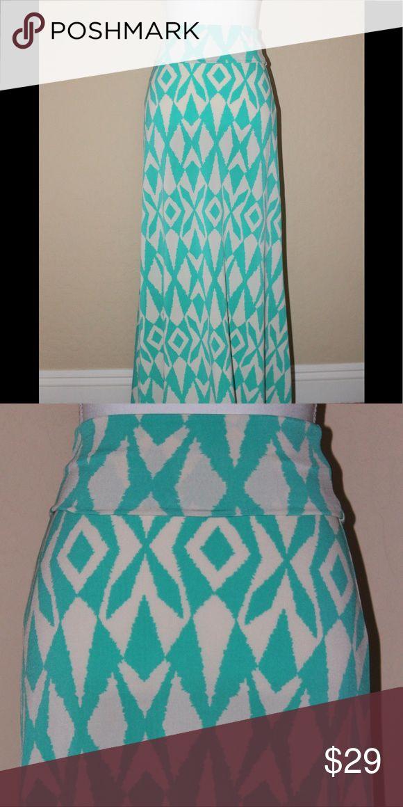 Brand New! Maxi Skirt!! Brand New! Cream & Turquoise Maxi Skirt Skirts