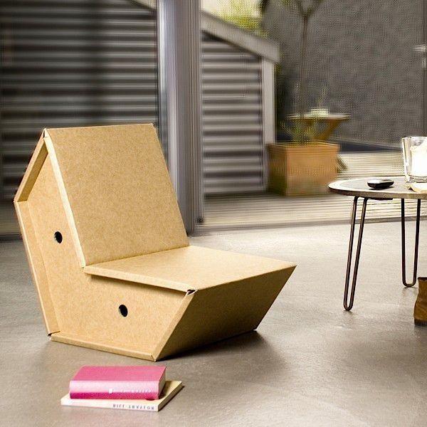 Le fauteuil OTTO est en carton ultra-résistant - déco et design
