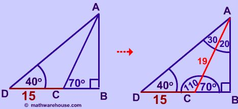 Law of Sines formula, examples and practice problems