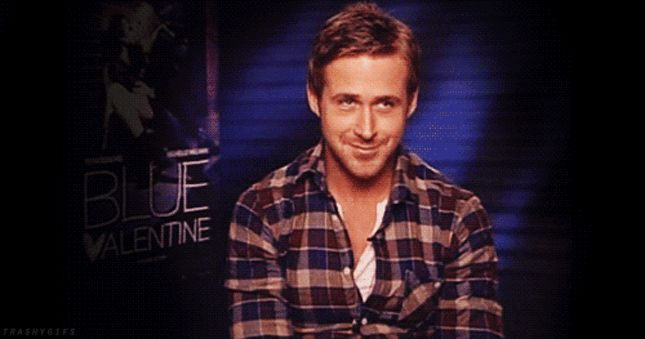Could Gosling giggles be any cuter?