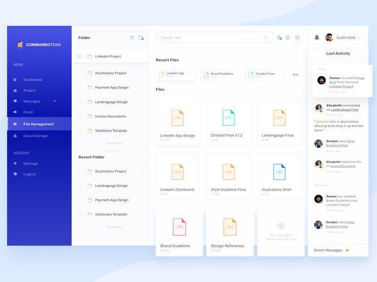 Dashboard File Management In 2020 Web Design Dashboard Design Web App Design