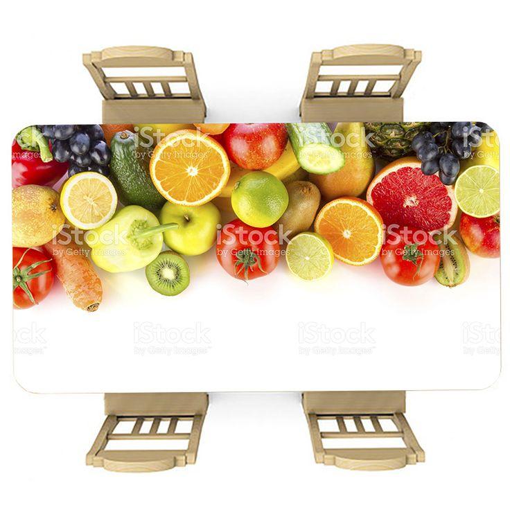 Tafelsticker Lekker gezond | Maak je tafel persoonlijk met een fraaie sticker. De stickers zijn zowel mat als glanzend verkrijgbaar. Geschikt voor binnen EN buiten! #tafel #sticker #tafelsticker #uniek #persoonlijk #interieur #huisdecoratie #diy #persoonlijk #gezond #lekker #fruit #sinaasappel #kiwi #appel #bloedsinaasappel #druif #voedsel #eten #keuken