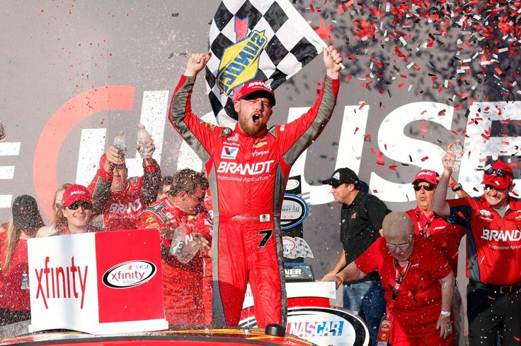 Justin Allgaier had the drive of his life. Brendan Gaughan was hanging on for dear life. But both drivers were winners at Chicagoland Speedway.