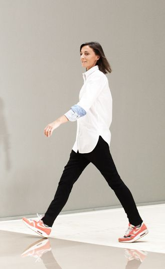 phoebe philo- love the sneakers with this outfit.