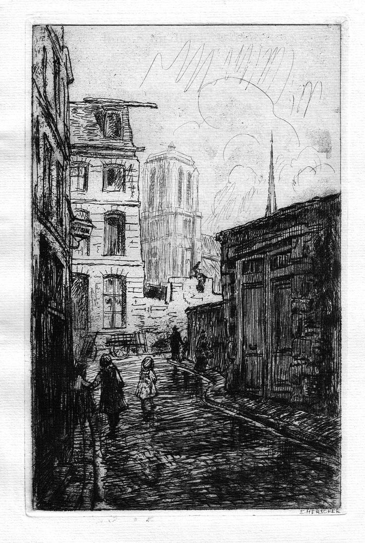 Rue Saint-Julien-le-Pauvre - Paris - Touchant le n°12 (1909)