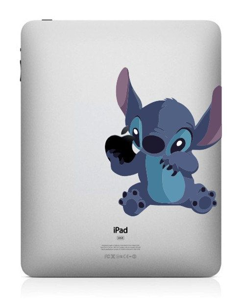 Cute stitch ipad decal mac decal macbook decals macbook stickers vinyl decal apple