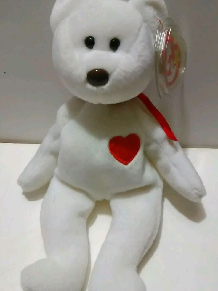 Beanie Baby Valentino Bear Nose Tag Date 93/94 Errors Ty Collectible Plush Toy #Ty
