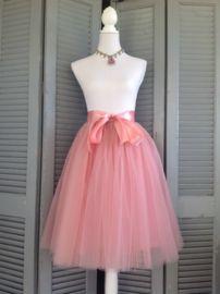 Tule rok - koraal roze