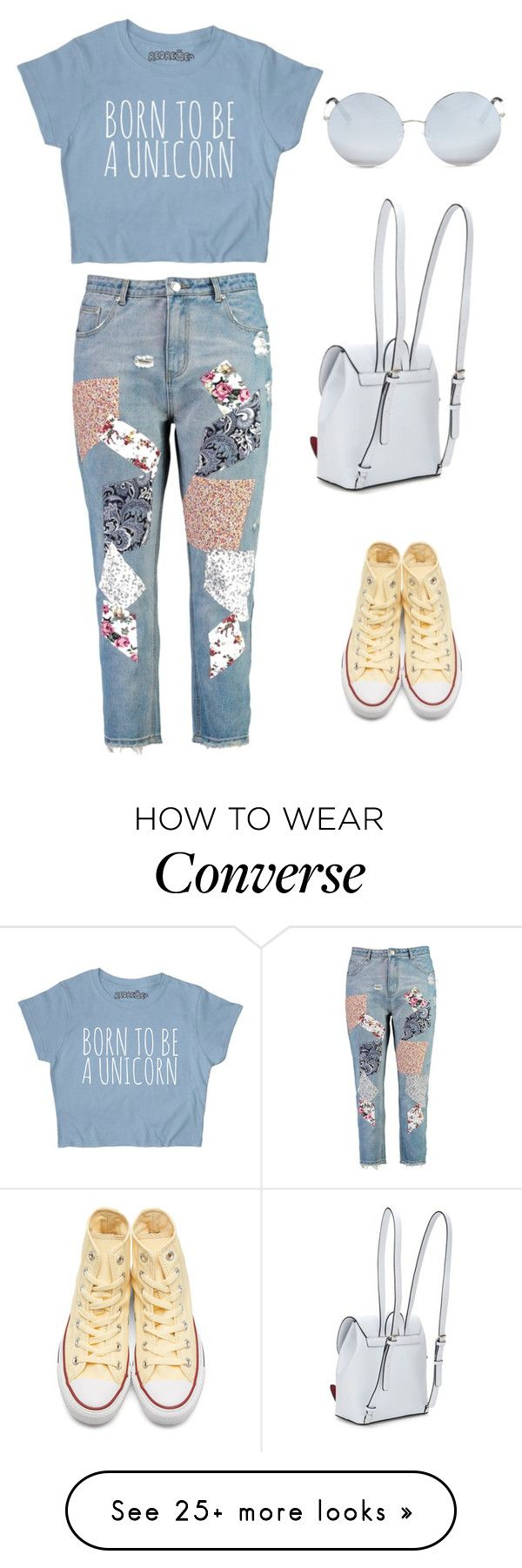 """Born to be a unicorn"" by peppermintdm on Polyvore featuring Boohoo, Converse and Matthew Williamson"
