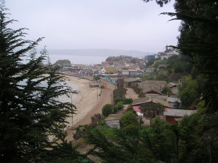 Horcon, Chile. A view of the town from a house we stayed in for Jack's 30th.