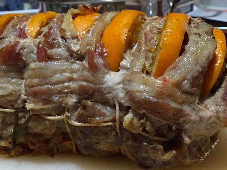 Carrè di maiale con speck e arancia