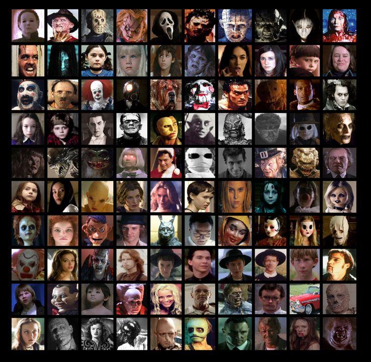 100 Horror Movie Characters by Otaku-Mookers