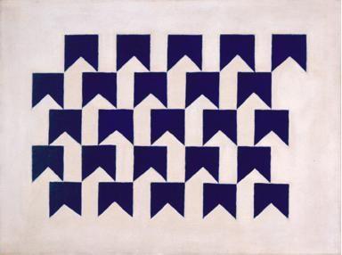 Alfredo VOLPI Obra - Bandeirinhas azuis sobre branco, 1960