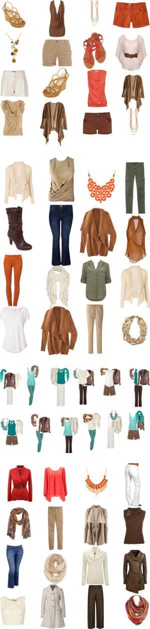 My Warm Autumn Colour Capsule Wardrobe by bec-robbie on Polyvore featuring wardrobecapsule, мода, Valentino, Calypso St. Barth, Dorothy Perkins, Jane Norman, Mossimo, River Island, Saloni and Nina Ricci