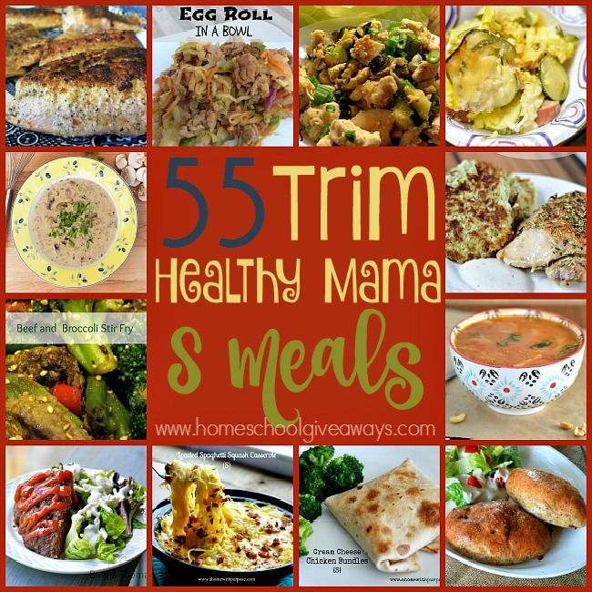 "The Trim Healthy Mama (THM) Lifestyle couldn't be any easier when you get to eat meals like these 55 ""S"" meals! :: www.homeschoolgiveaways.com"