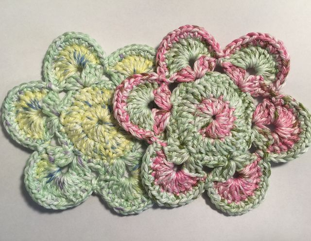 Ravelry: DovieCaba's Flower Coasters  For Coaster Swap on Swap-Bot
