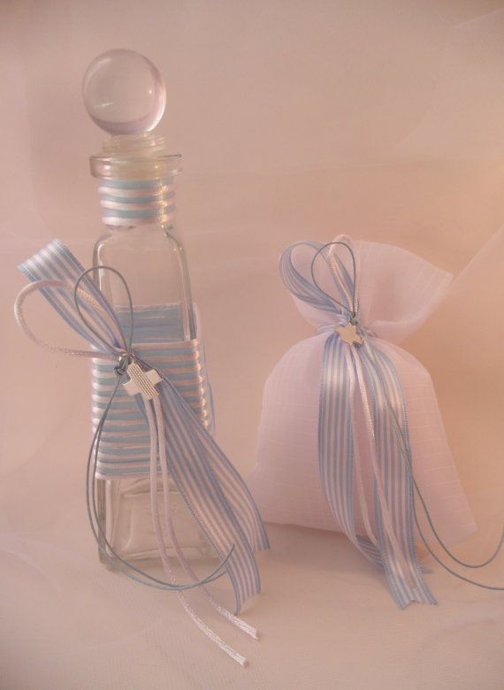 Greek baptismal oil bottle/soap set by KaramelaC on Etsy, $24.00