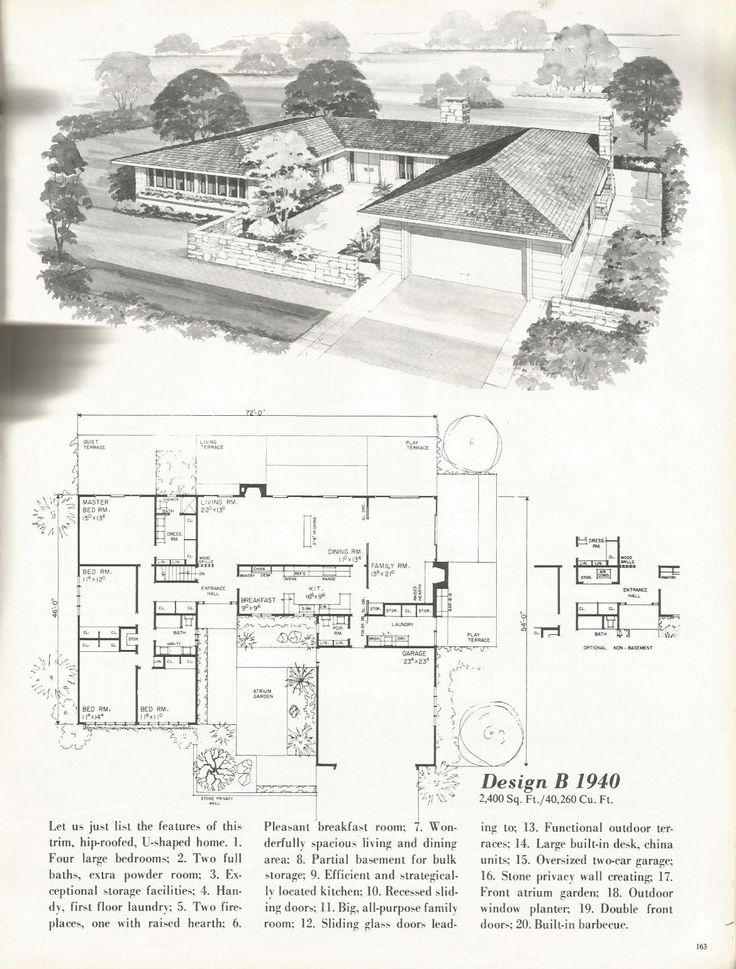 17 best images about ranch house on pinterest house for Mid century floor plans