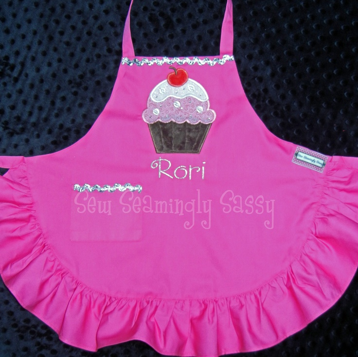 Toddler Girl Personalized Cupcake Apron. $29,00, via Etsy.