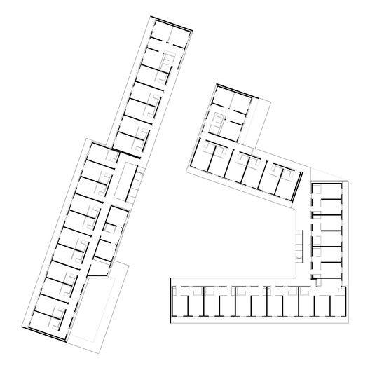 Student Dormitory,floor plan