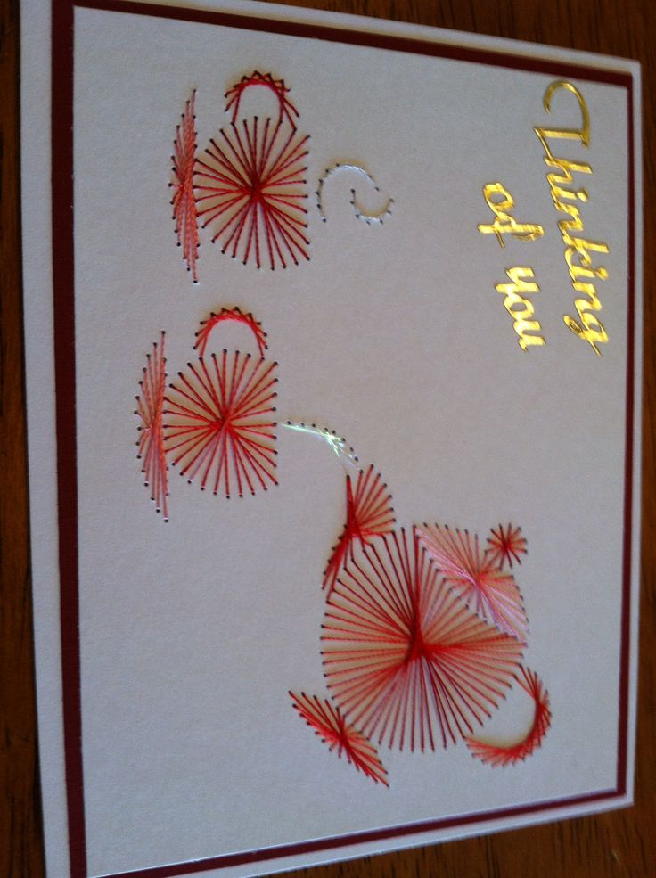Best string art ideas sewing card embroidery