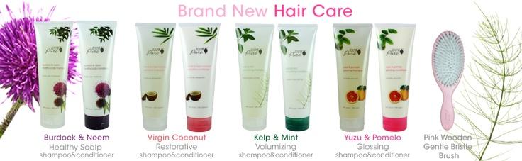 Our brand new 100% Pure hair care lines, launched February 2013! Binnenkort verkrijgbaar bij Natuurlijkecosmeticawinkel.nl