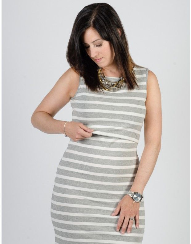 Nursing mom's must-have! Momzelle Nursing Dress Megan is easy to nurse in and super flattering on all body types. Fast shipping!