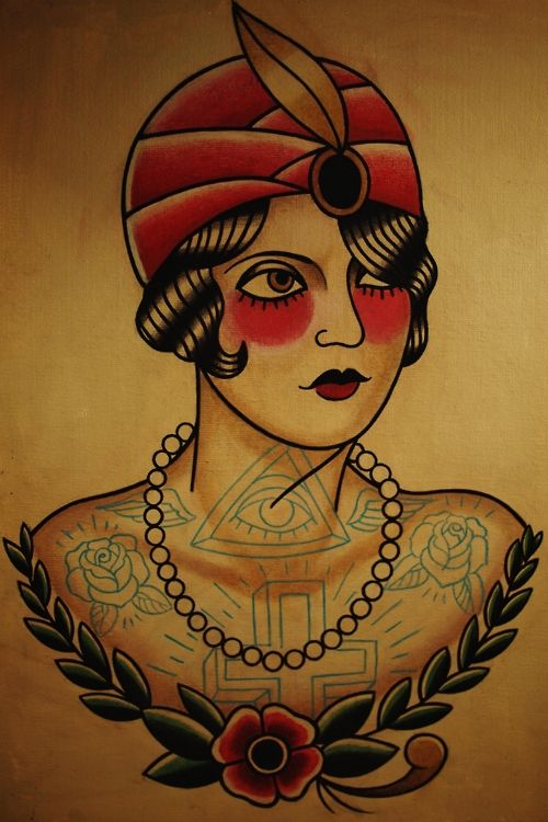 36 best images about history vintage tattoos on for Sailor jerry gypsy tattoo
